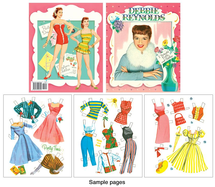 Debbie Reynolds Reproduction Paper Doll - Click Image to Close