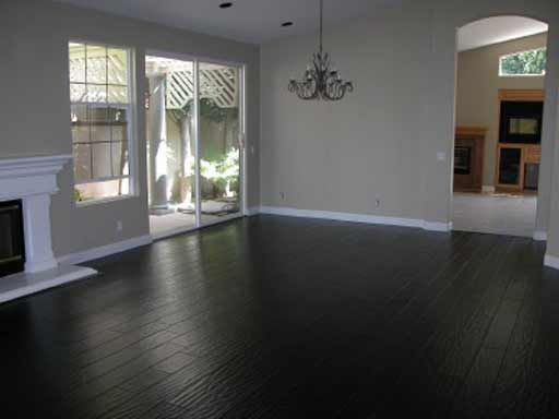 Black hardwood floor lovveee for the home pinterest for Living room ideas with dark hardwood floors