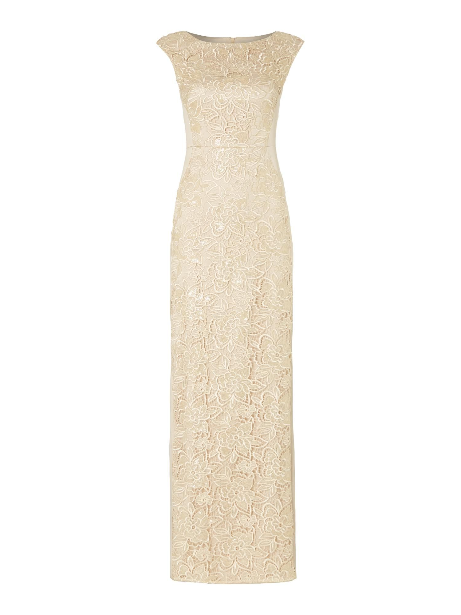 Buy your Adrianna Papell Lace Front Mikado Body Con Dress online now ...