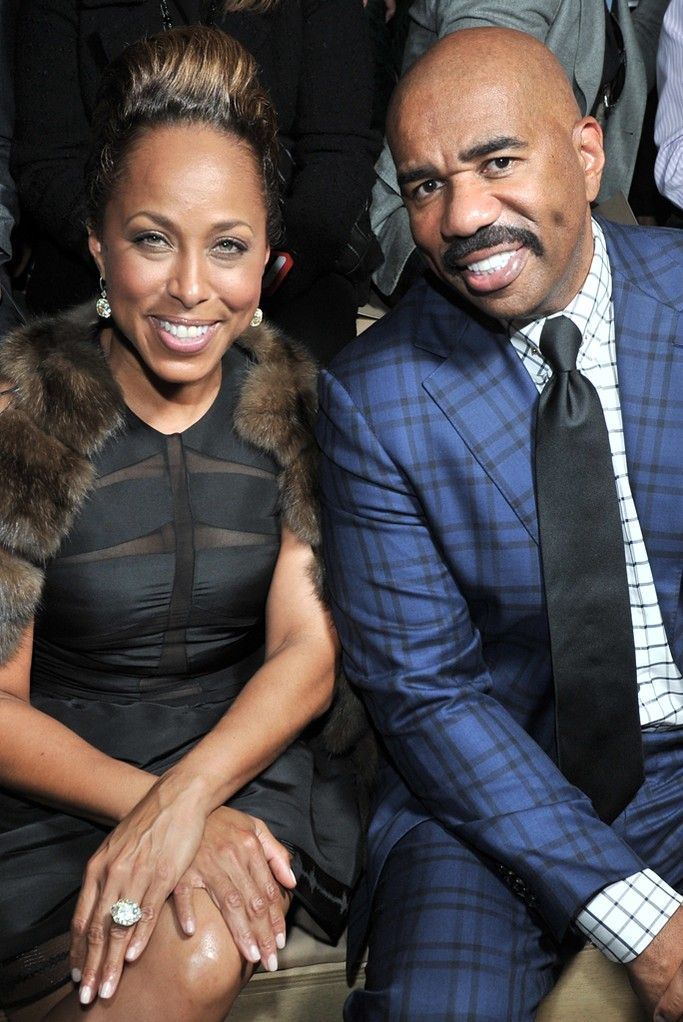 Front Row at Valentino Steve harvey Bridges and Front row