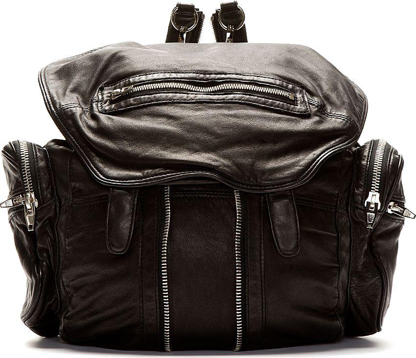 Alexander Wang Black Leather Marti Backpack
