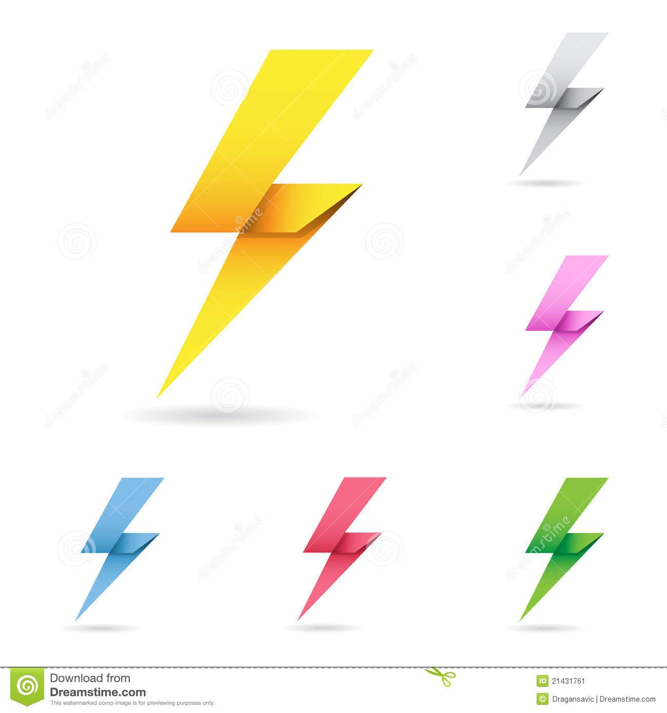 Set of origami lightning bolts download from over 38 million origami jeuxipadfo Gallery