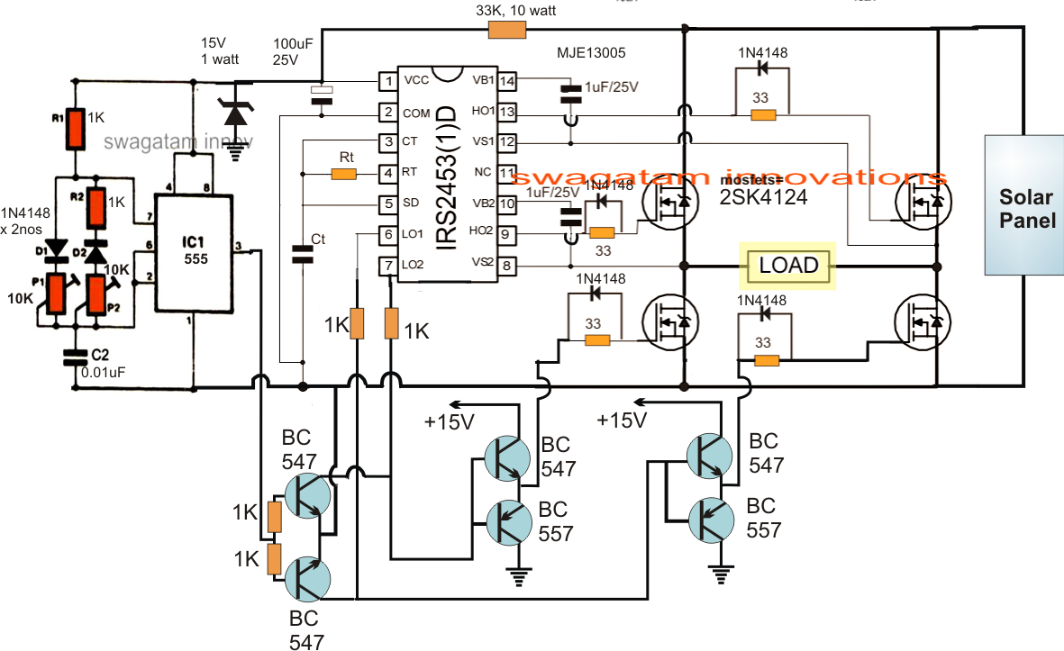 Designing A Solar Inverter Tutorial Electronic Circuit Projects Tracker Diagram