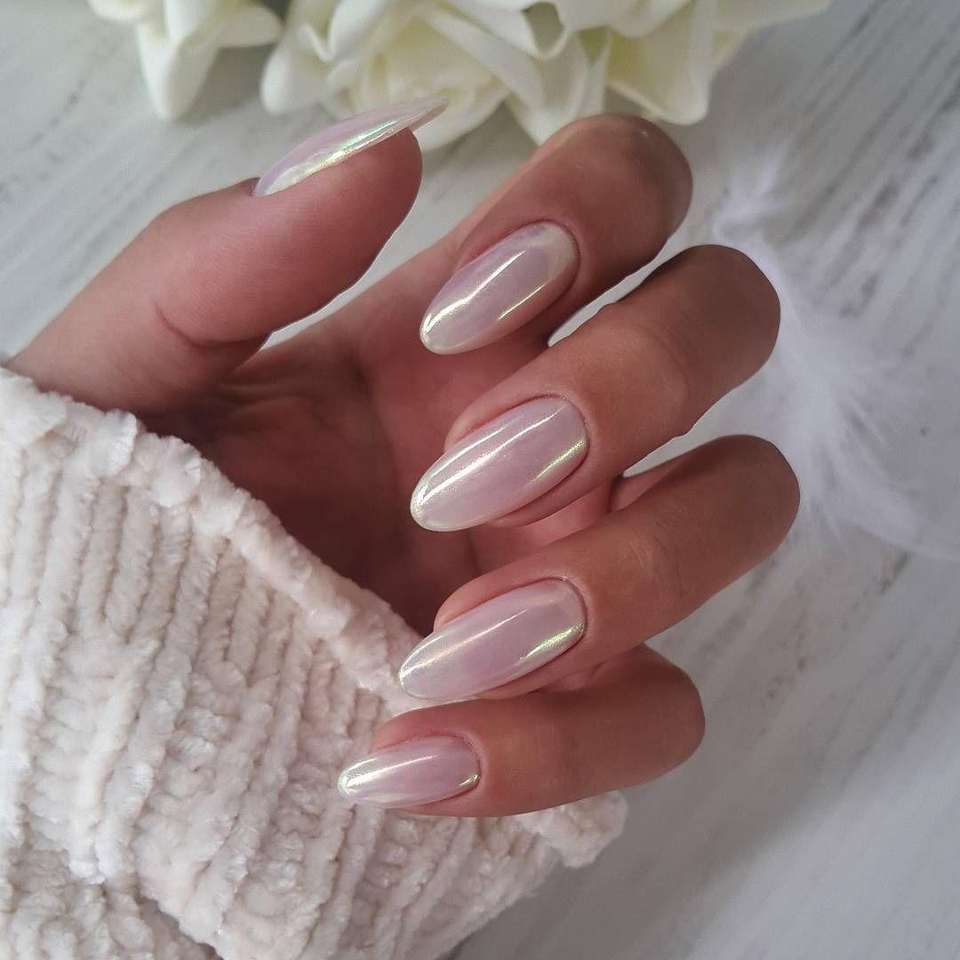 "Elina_ Mel on Instagram: ""•Glass Me •Pearl Chrome •� . . . . . . #nails_art #nails_masters #nail_art_club #nail_art_mania #nailsmagazine #nail_me_good…"""