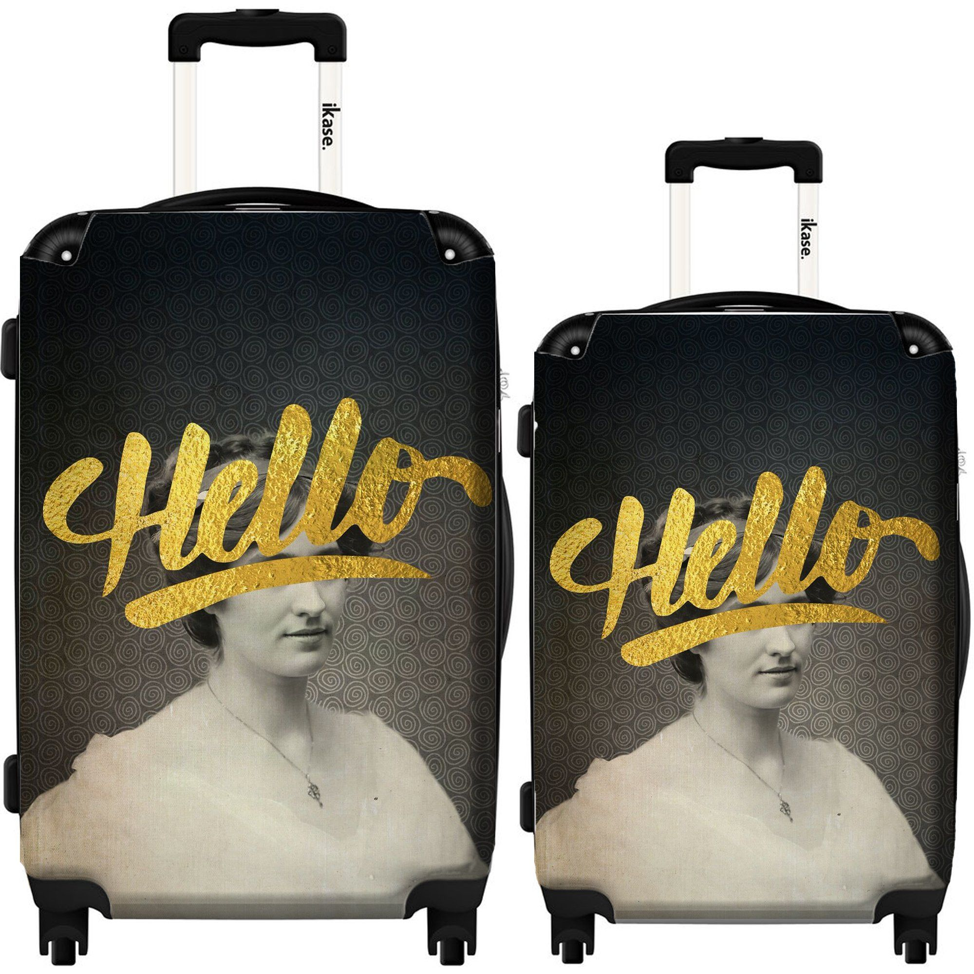 Hello by Elo Marc,Hardside suitcase,Spinner,Upright Luggage,24-Inch