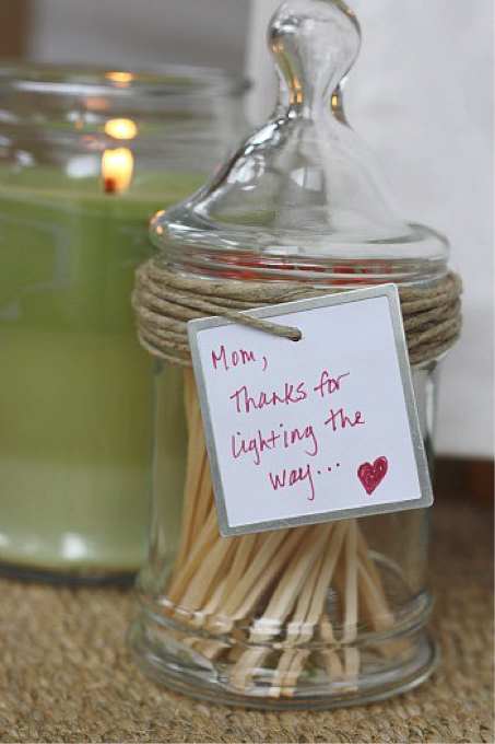 """""""Thanks for lighting the way."""" Candle and matches. This ..."""