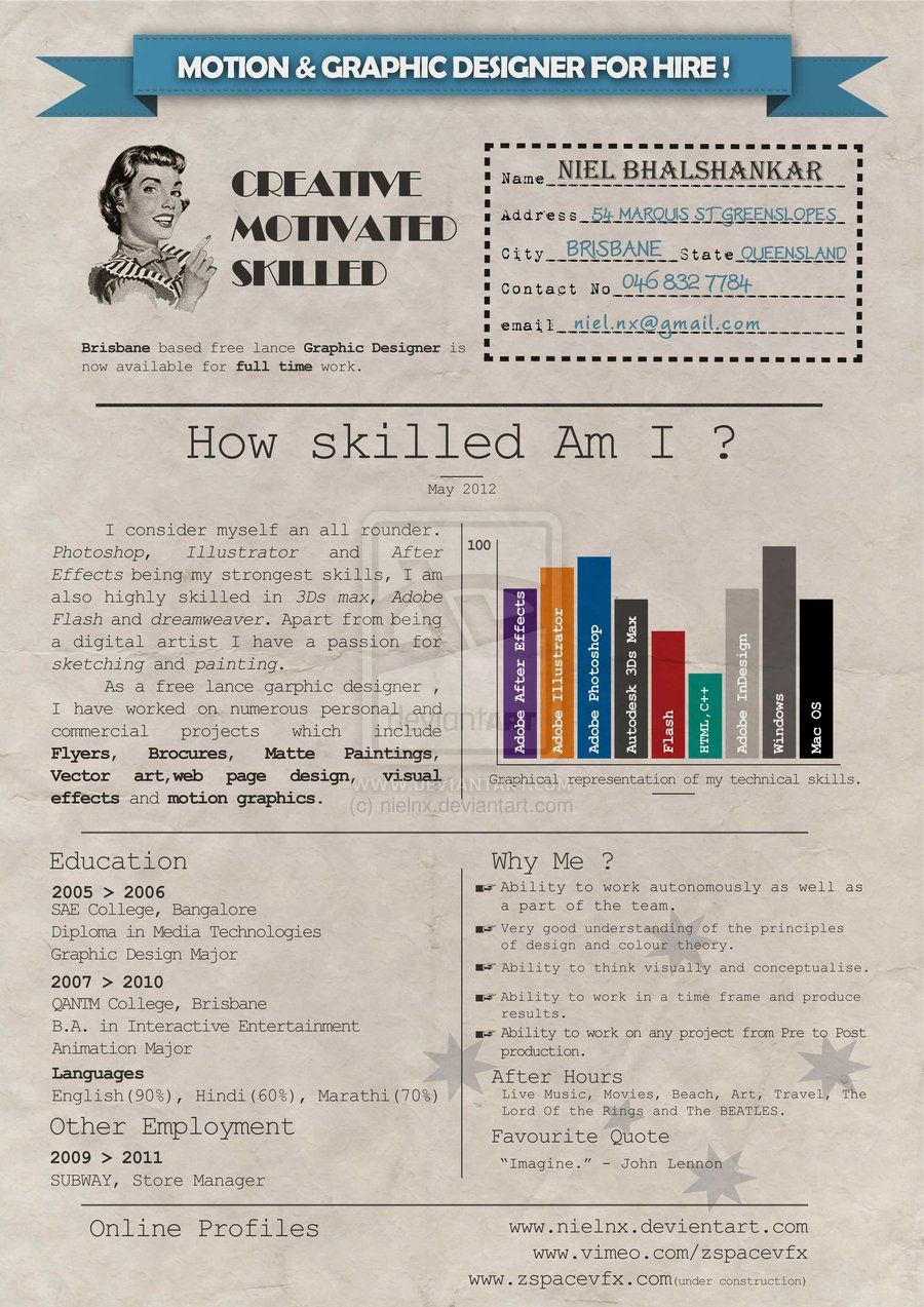 resume by nielnx on deviantart infographic visual resumes