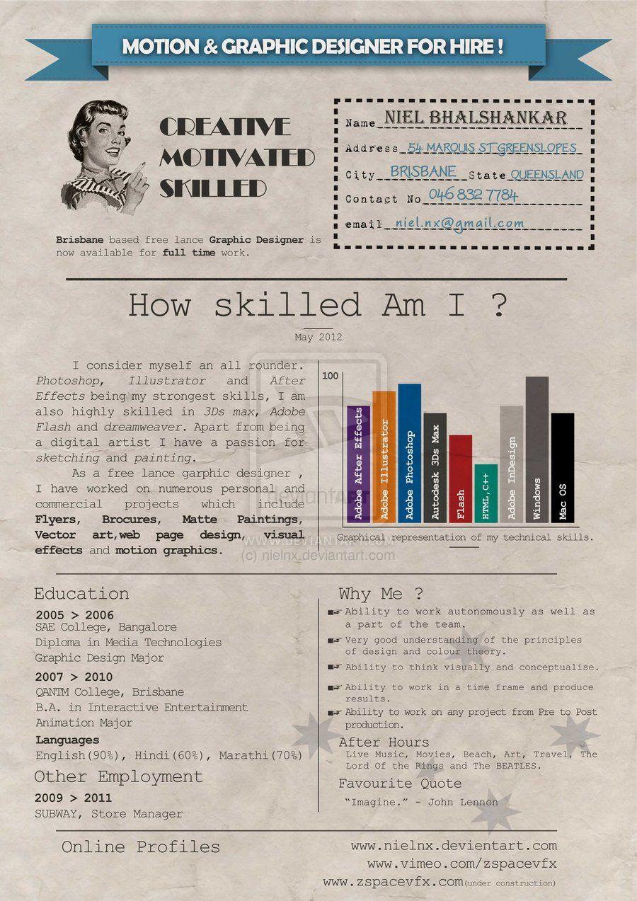 Resume by ~nielnx on deviantART | varios | Pinterest | Currículum ...