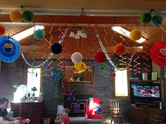 Sesame Street Party Supplies on Etsy, $100.00