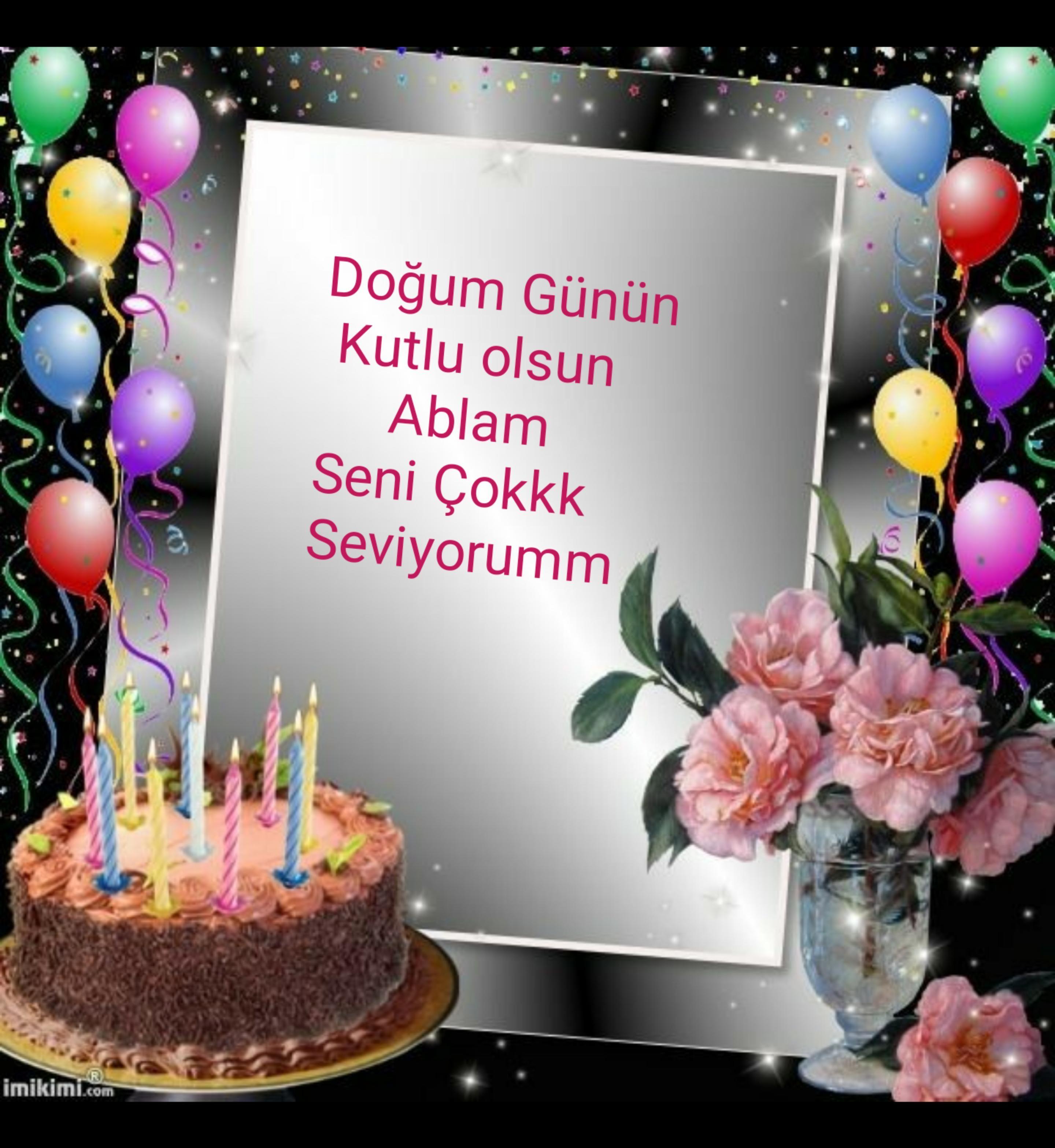 Ablaya Dogum Gunu Mesaji Guzel Sozler Happy Birthday Frame Bday Quotes Happy B Day