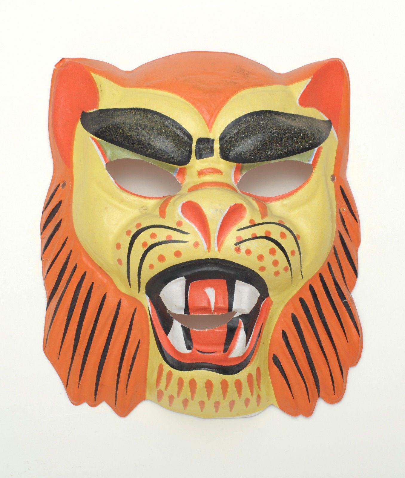 Small Lion Plastic Vintage Collegeville Ben Cooper Halloween Mask ...