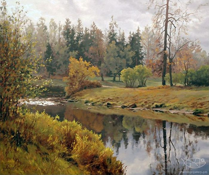 Adamow Alexis River In October Art Landscapes I Spring