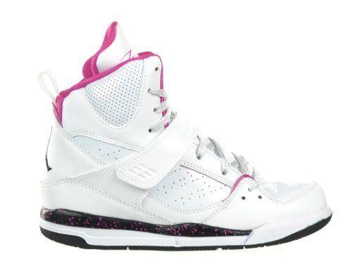 huge discount 7c5ba 97493 Girls Jordan Flight 45 High (PS) Preschool Kids  Shoes White Black-