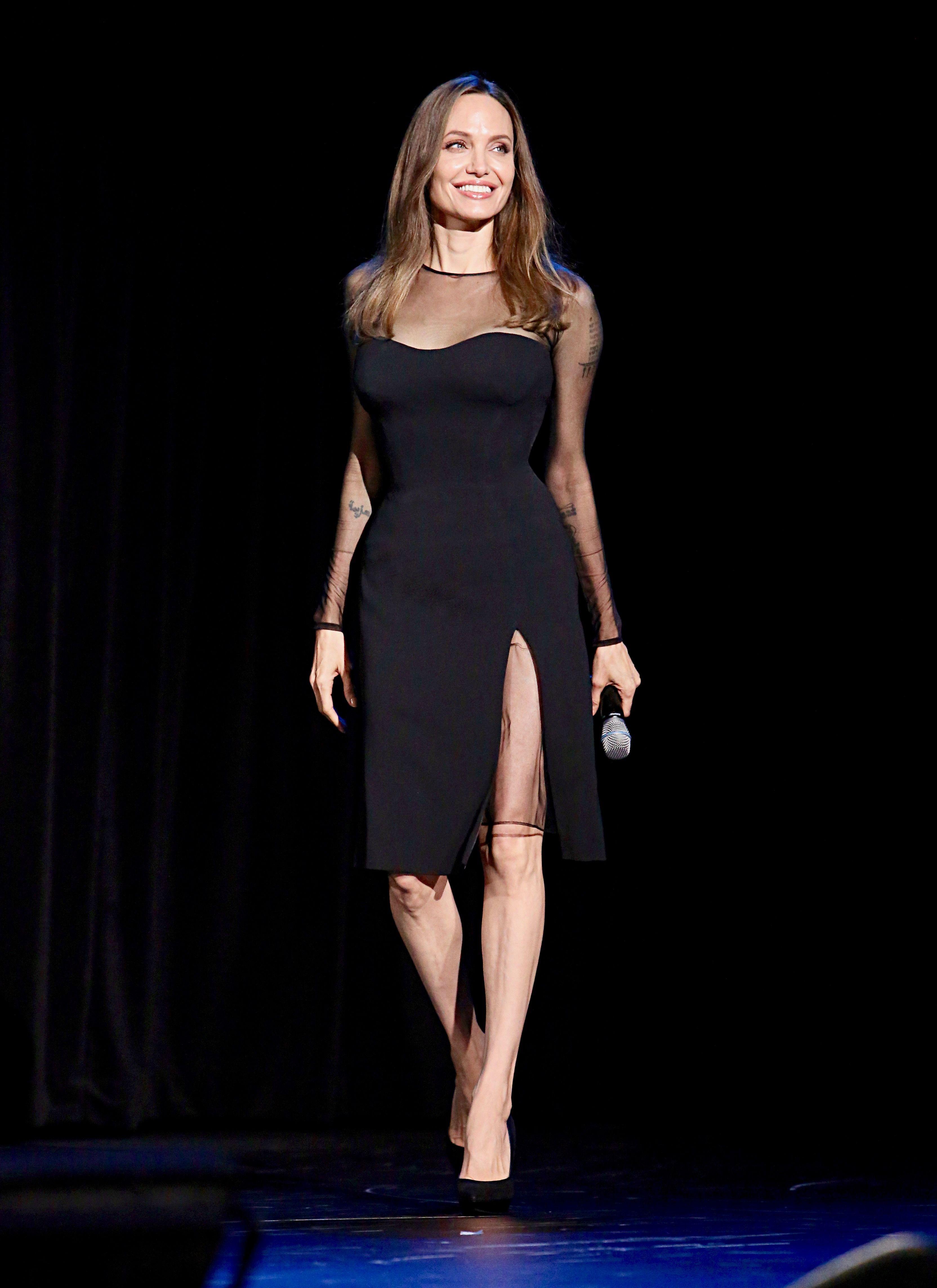 Angelina Jolie Naked Taking Lives angelina jolie's black magic for disney's d23 expo 2019 for