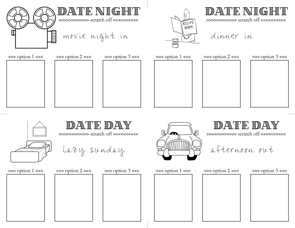 date night card templates
