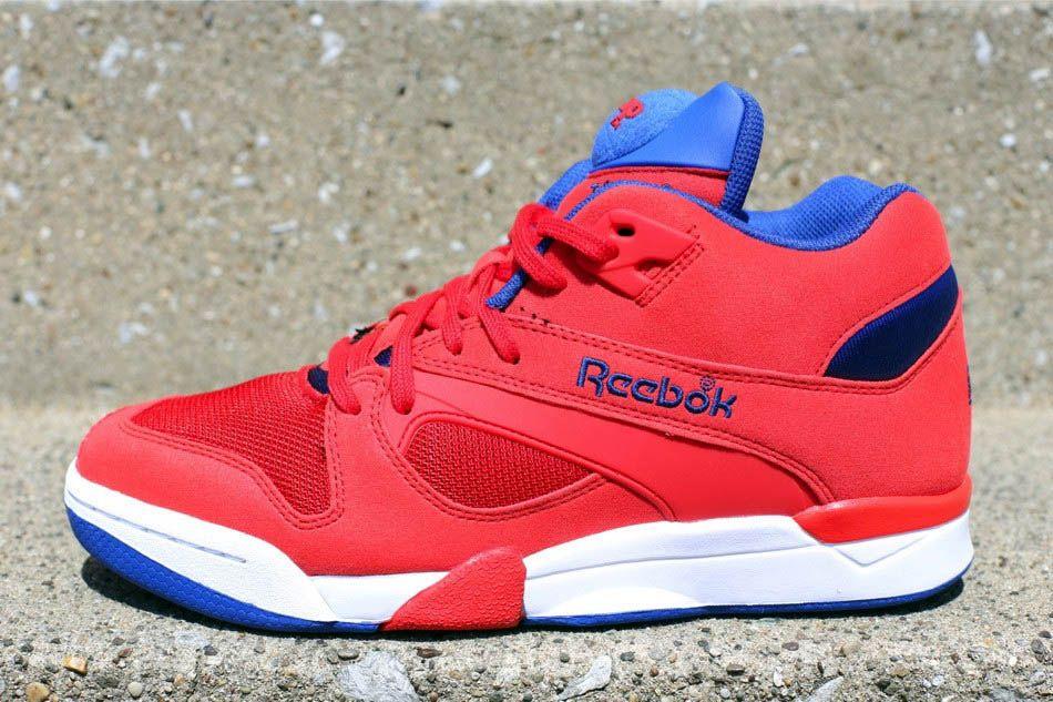 all red reebok pumps