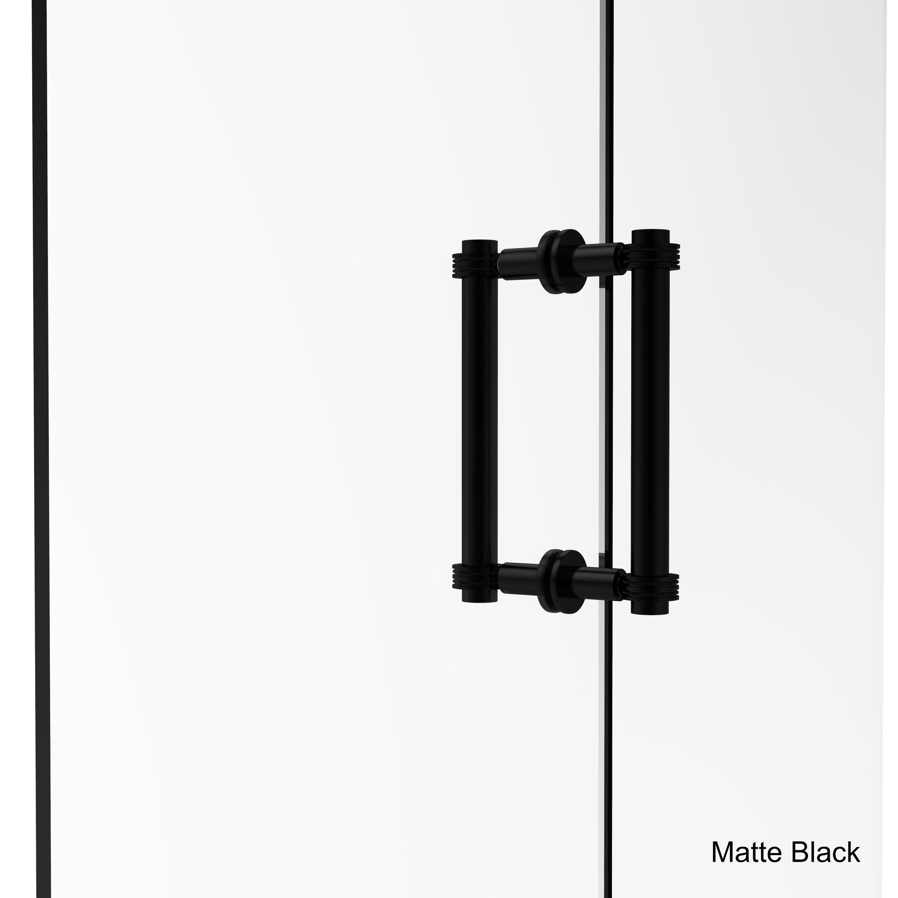 Superb Allied Brass 8 Inch Contemporary Back To Back Shower Door Pull With Dotted  Accent (