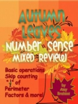 "3rd & 4th Grade Autumn Theme ""Number Sense"" Math Review ..."