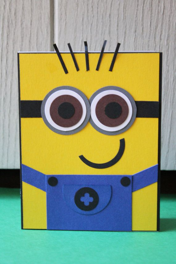 I Want One 00 Minion Card Kids Birthday Cards Themed Cards