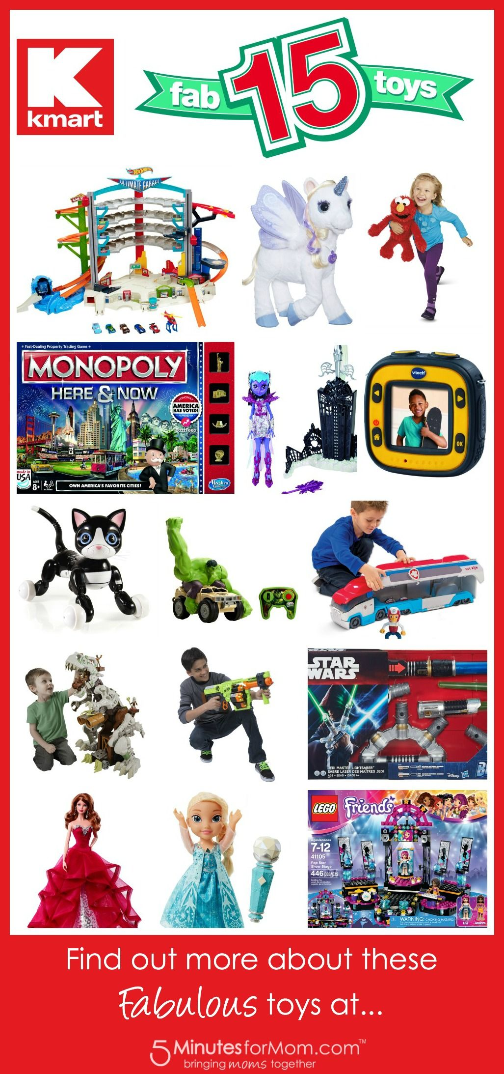 Make All The Kids on Your List Happy with these Kmart Fab15Toys