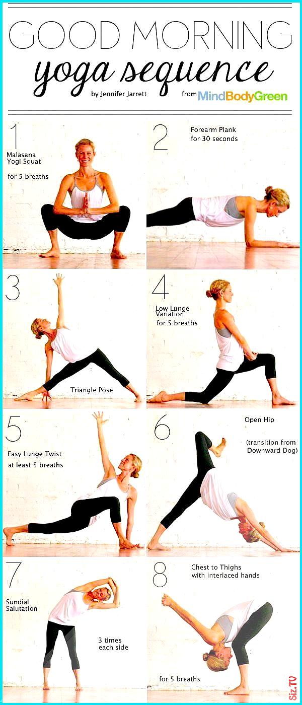 Guten Morgen Yoga-Sequenz Gl ck Morgen Fitness wie  bung Yoga Gesundheit diy  bung gesund leben zu H...