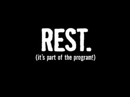 Yay for rest days