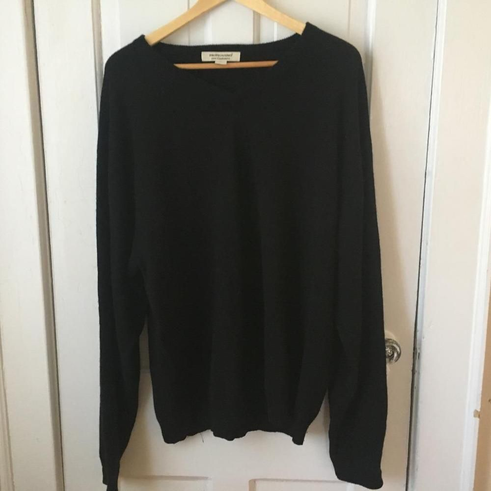 ad8f79ea82ee6f Men Size 3X Pronto Uomo 100% Cashmere Black Sweater #fashion #clothing  #shoes