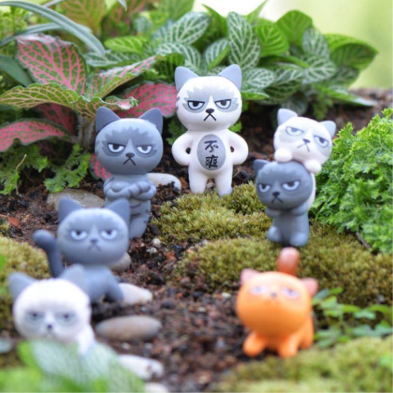 Cat Figurines Micro Landscaping Decor For Garden Mini