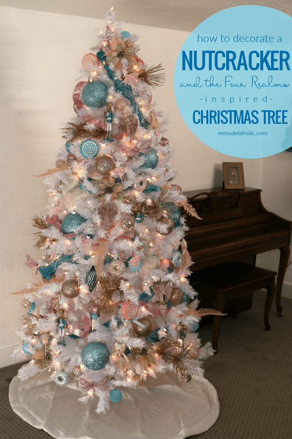 Blue Pink And Gold Nutcracker Christmas Tree Decorating Tutorial Pink Christmas Tree Decorations Christmas Tree Decorating Themes Pink Christmas Tree