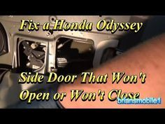 05 Honda Odyssey Power Sliding Door Reset Youtube Mimi Van