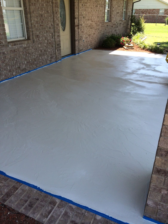 Concrete Countertop Overlay Concrete Patio Makeover Concrete