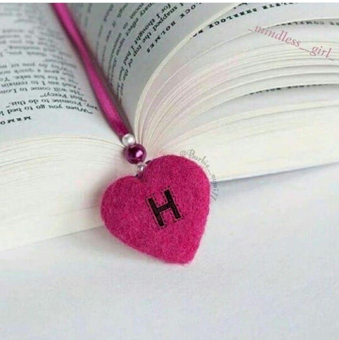 H Heart Bookmark Alphabet Letters Design Stylish Alphabets Picture Letters