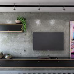 Photo of Soggiorno in stili industriale di 285 arquitetura e urbanismo industrial cemento | homify