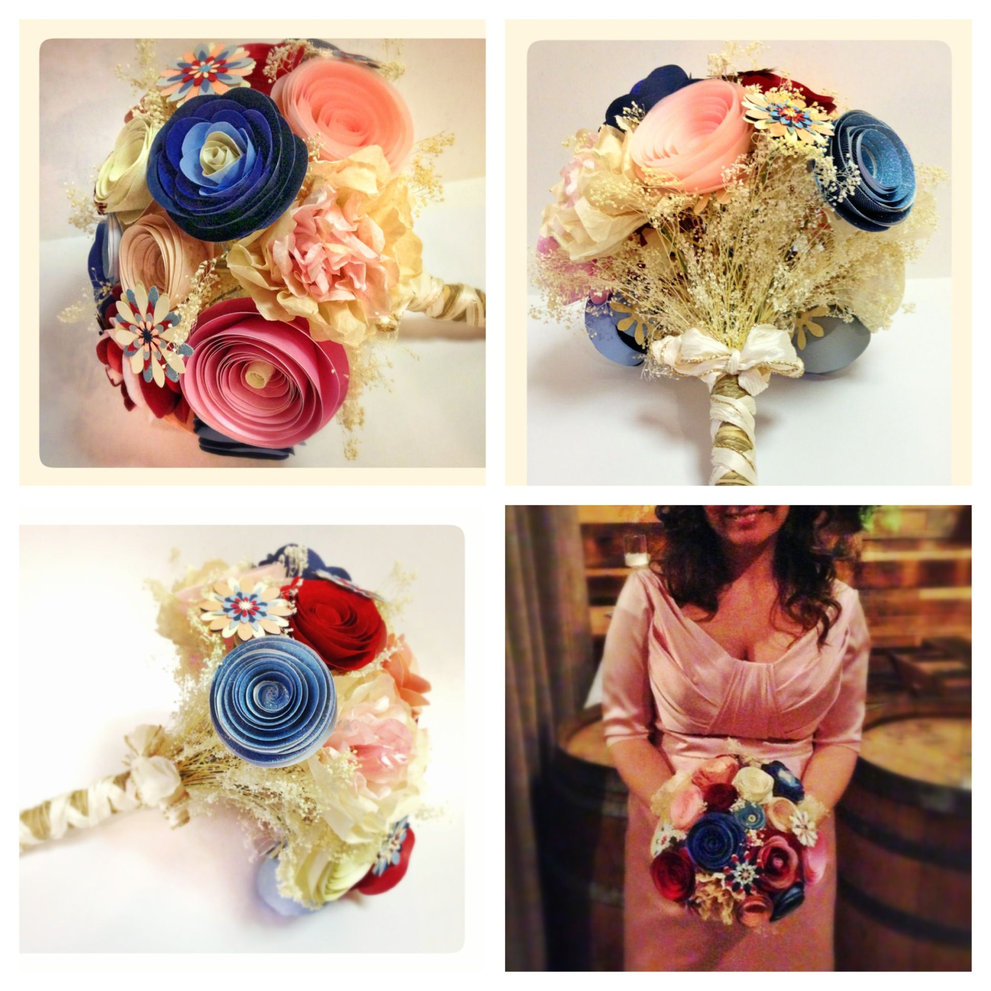 Wedding bouquet of paper flowers!   By Paper Portrayals