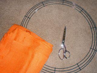diy wreath frame from hobby lobby with burlap ties or bows - Wire Wreath Frame Hobby Lobby