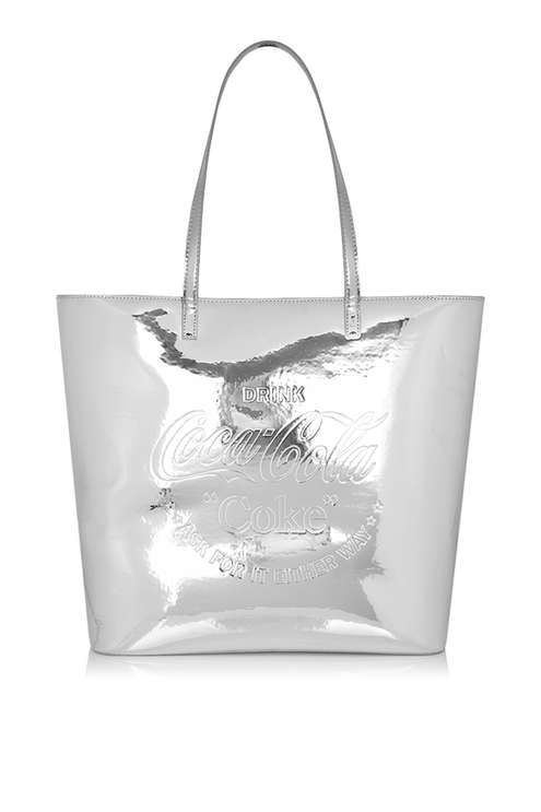 Coke Large Silver Tote Bag by Skinnydip | Products, Silver and Bags