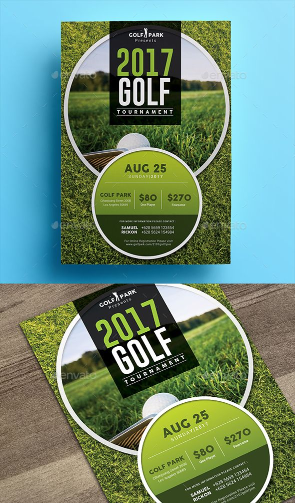 Golf Tournament Flyer 03 Pinterest Flyer Template Fonts And Typo