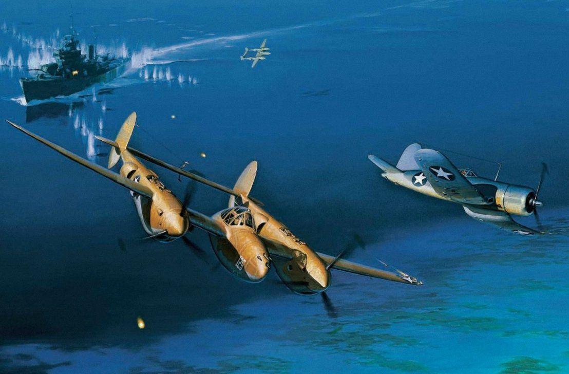 "/""Dangerous Skies/"" Jack Fellows P-38 Lightning Giclee Print"