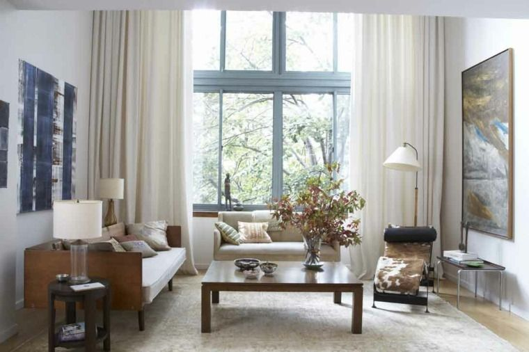 cortinas decoracion salon Ventanas Pinterest Interiors - Cortinas Decoracion