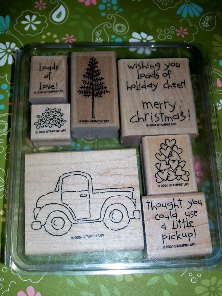 Stampin Up LOADS OF LOVE stamp set of 7 used by itsacardlife