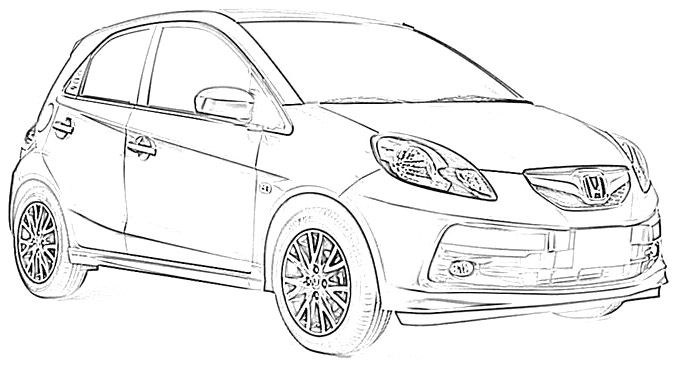 Honda Hybrid Coloring Page Honda Car Coloring Pages Cars