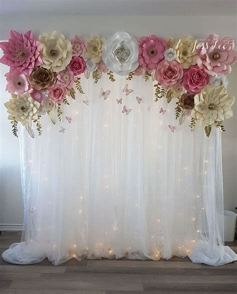 Giant Paper Flowers Diy Baby Shower Decorations Pink