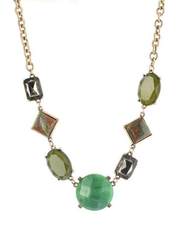 Savannah Geometric Jewel Necklace - Cents Of Style