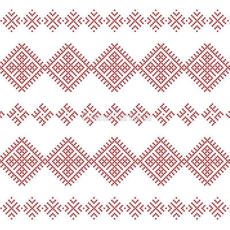 Pattern Family Unit Slavic Symbol Floor Pillow By