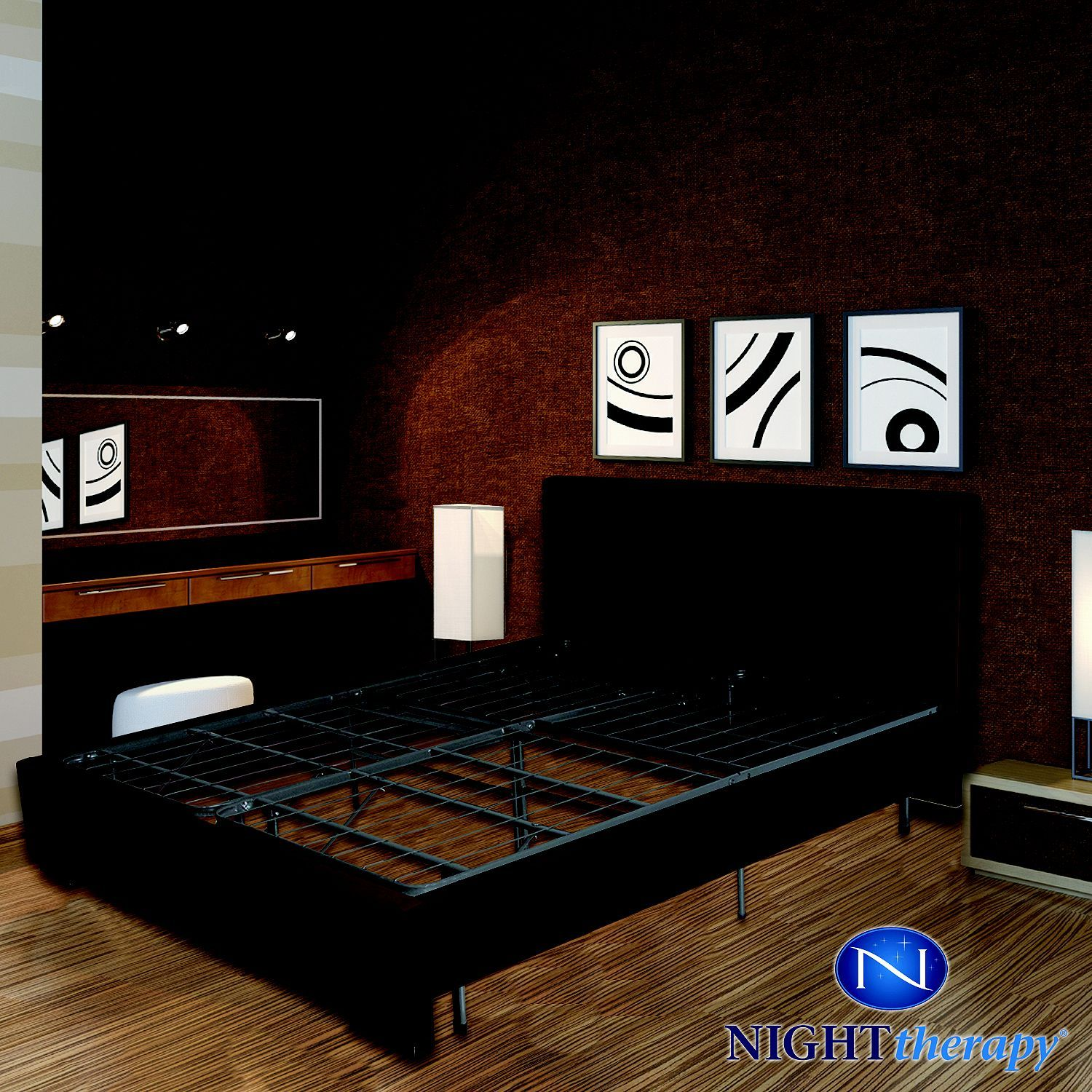 Night Therapy Smart Base Steel Bed Frame Queen Foundation Steel