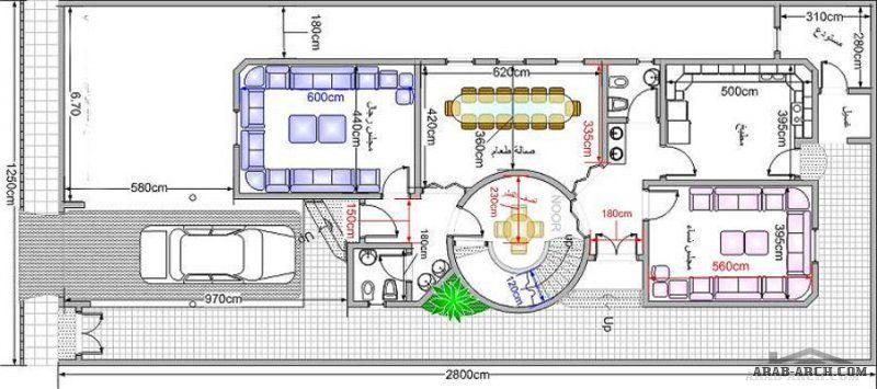 مخطط فيلا صغيرة دورين 12 5 28 ابعاد الارض Architectural Design House Plans House Architecture Design Design