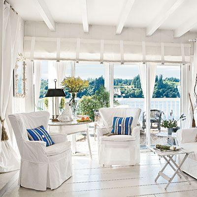 20 Beautiful Beach Cottages Beach Living Room Coastal Living