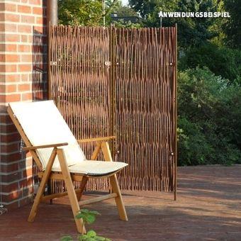 paravent skagen, 2-teilig, weide,<br />b: 130 x h: 160cm, Garten und Bauen