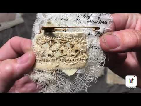 New antik lace snippets, for my Etsyshop. - YouTube