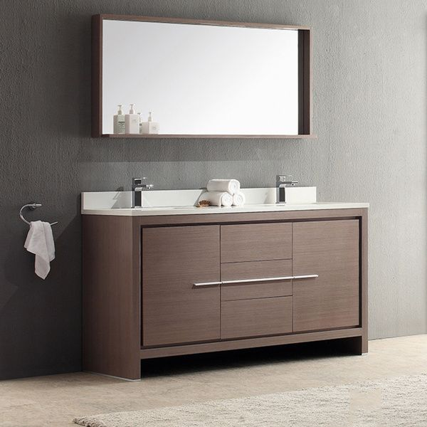 Best Fresca Allier 60 Inch Grey Oak Modern Double Sink Bathroom 640 x 480